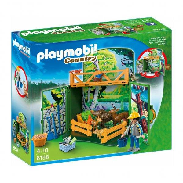 "[Plus-Produkt Amazon] PLAYMOBIL 6158 - Aufklapp-Spiel-Box ""Waldtierfütterung"" pvg 15€"