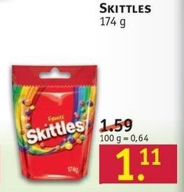 [Rossmann] Skittles 174g für 0,89 € (Papier + App)
