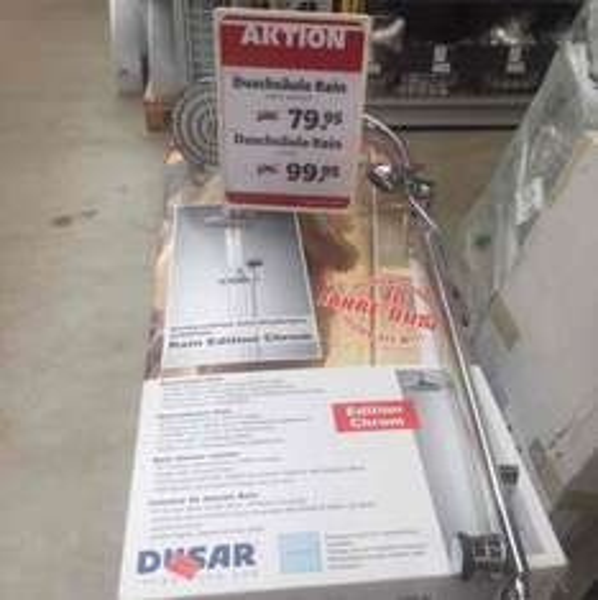 Dusar Rain Regenschauerdusche lokal Silber 79,95€ PVG 229,95€ Lokal Nortorf Hagebau