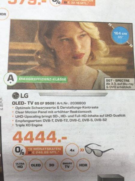 LG 65EF9509 OLED Saturn Göttingen (lokal) - VK: 4444,-