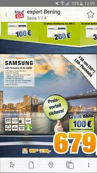 (expert bening Wilhelmshaven) Samsung 55 Zoll FullHD TV - Smart TV + 100€ Gutschein