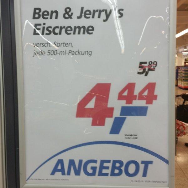 [lokal?] Ben & Jerry's Eis 500ml verschiedene Sorten für 4,44 Euro im Real in 88250 Weingarten