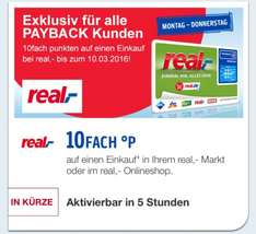 [Real] 10x Payback Punke vom 06. - 10.03 (eCoupon)