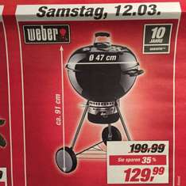 [Witten] Weber One Touch Premium 47 Kugelgrill