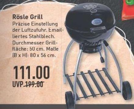[Marktkauf Rhein-Ruhr] Rösle No. 1 Sport F50 Holzkohle-Kugelgrill f. 111€ (Idealo ab 159,90€)