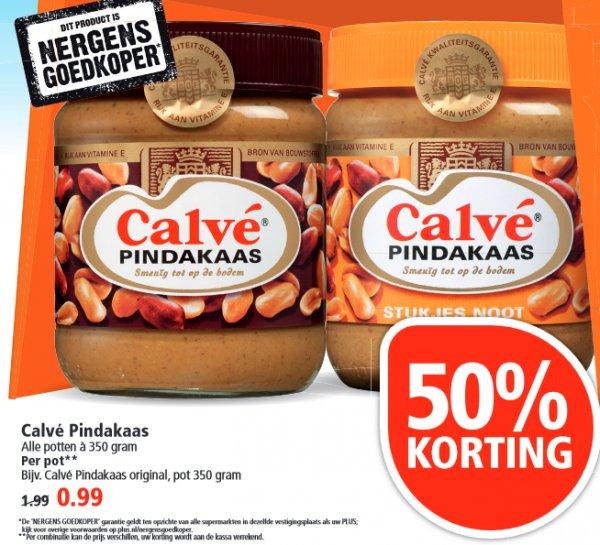 [GRENZGÄNGER NL] PLUS - 50% - CALVE Erdnussbutter 350g für 99 cent