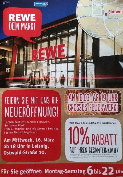 REWE Leisnig: 10 Prozent Neueröffnungsrabatt auf alles