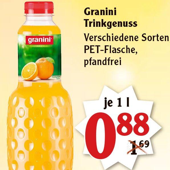 Granini Trinkgenuss für nur 88 Cent bei [Globus]