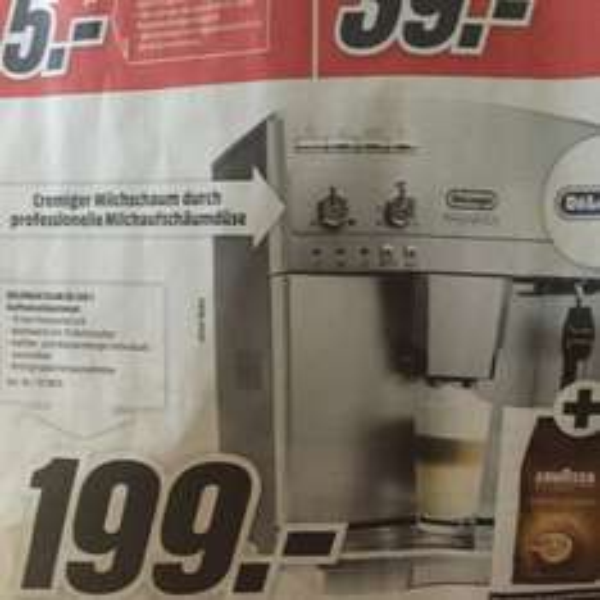 [Media Markt Köln-Kalk] Delonghi Kaffeevollautomat ESAM 03.120 S 199€