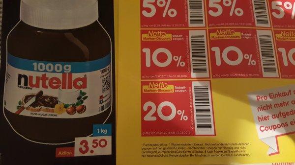 Netto Bundesweit(?) - Nutella 1kg für 2.80€