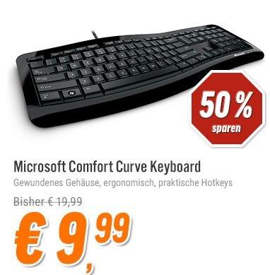 [Notebooksbiller.de] Tastatur Microsoft Comfort Curve 3000,mit Internet- und Multimedia-Tasten, USB für 12,98€