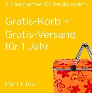 Baur - Einkaufskorb und Versand für 1 Jahr gratis ab 50€