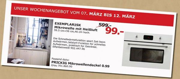 Mikrowelle mit Heißluft (Exemplarisk) bei Ikea Mannheim bis 12.3. für 99,-€ statt 599,-€!
