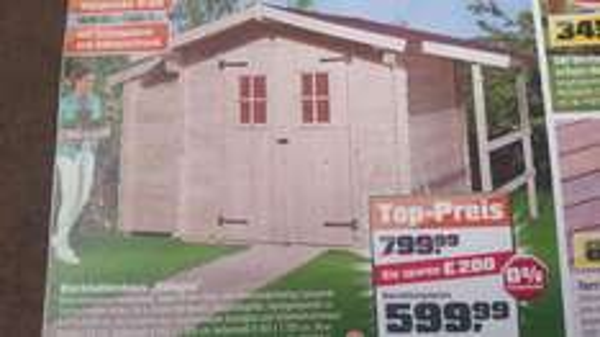 Blockhütte im OBI €599.99 statt €799.99