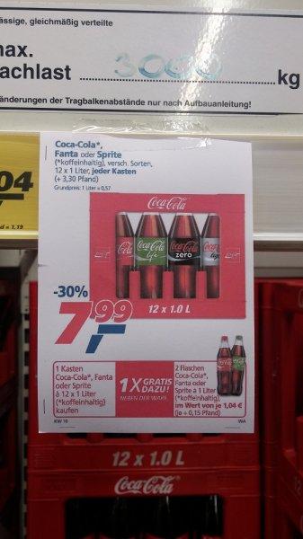 [REAL bundeseweit] Coca-Cola, Fanta, Sprite Kiste + 2 Flaschen | 7,99€ + Pfand