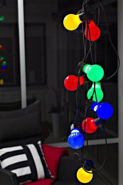 [Amazon] Konstsmide 2388-520 LED Biergartenkette bunt 80 Dioden