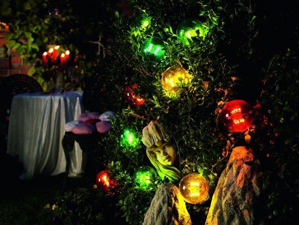 [Amazon] Konstsmide 2378-500 LED Biergartenkette 10 bunte Birnen