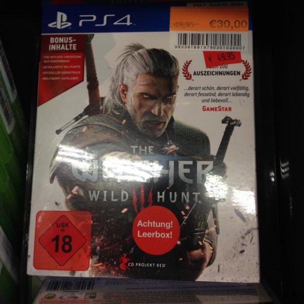(Lokal Böblingen)The Witcher 3: Wild Hunt für die PS4 für 30€
