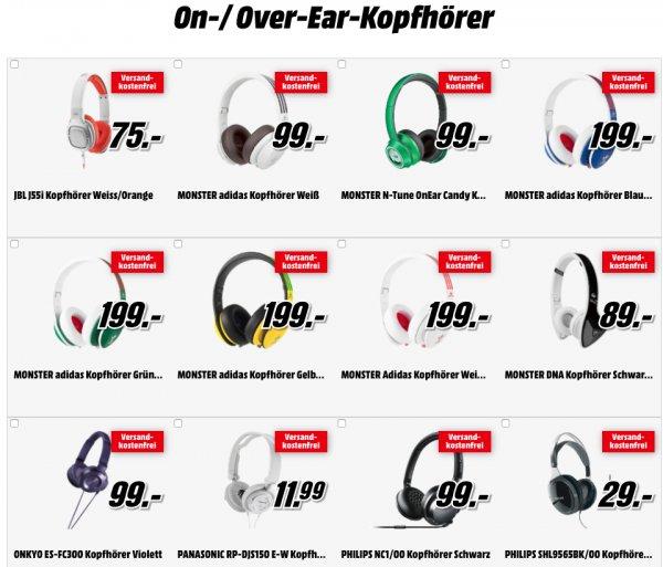 """""""Fetter Sound zum Mitnehmen"""" - Kopfhörerangebote bei Media Markt - z.B. PHILIPS NC1/00 für 99€"""