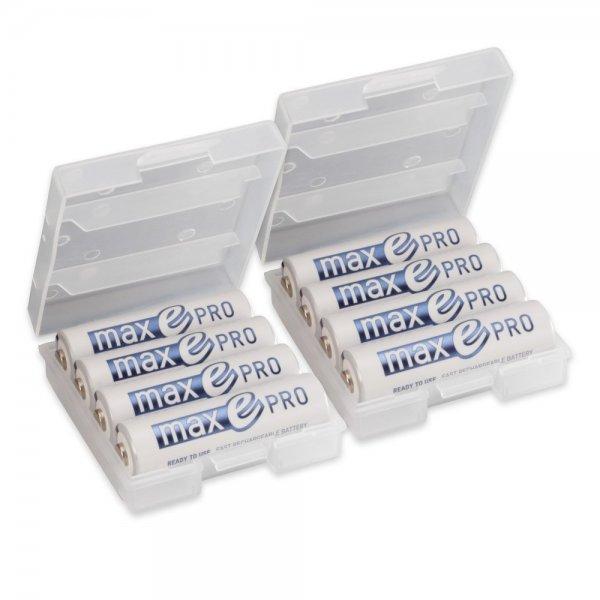 8x ANSMANN Akkubatterie maxE PRO Akku+ 2x Akkubox statt 35 Euro - wie Eneloop