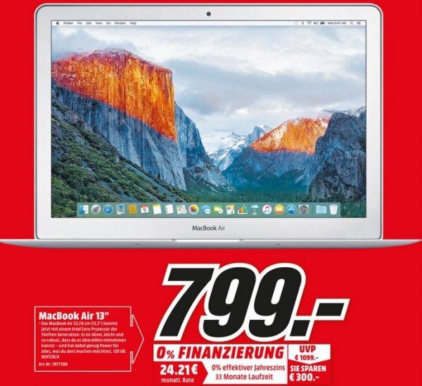 """Macbook Air 13"""" für 799€ (PVG 889€)@Media Markt Homburg"""