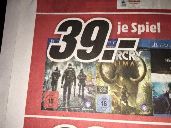 Media Markt Castrop Rauxel: The Division & Far Cry Primal für 39 € (PS4 + XB1)