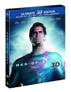 Man of Steel - Ultimate Edition (3D Blu-ray + Blu-ray + DVD + UV Copy) für 16,77€ bei Amazon.fr