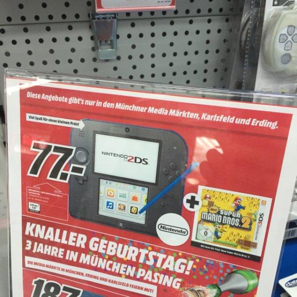 [lokal MM Pasing, Karlsfeld, Erding] Nintendo 2DS + Super Mario Bros 2