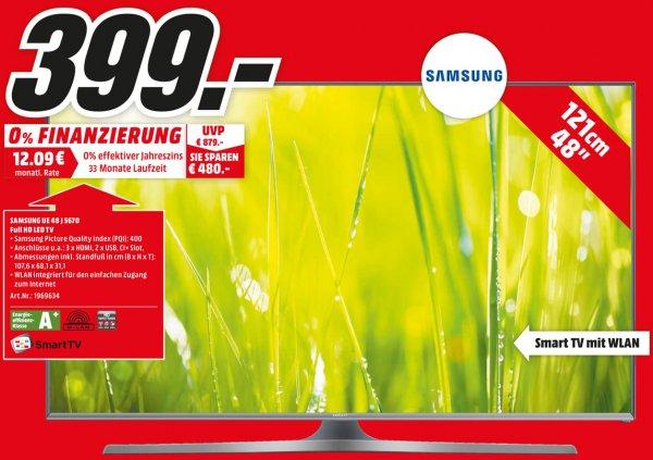 [Lokal MediaMarkt Pirmasens] Samsung UE48J5670 Full HD LED TV