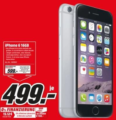 Apple Iphone 6 16GB 499€ - Jubiläum Media Markt Pirmasens