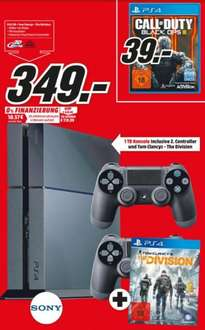 Sony Playstation 4 - 349€ - 1TB, inkl. 2. Controller, inkl. Tom Clanys - The Division [Media Markt Pirmasens]