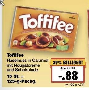 (Kaufland bundesweit KW 11 ab 14.03.) Toffifee 125gr. Packung für 0,88 € (München 0,77 €)