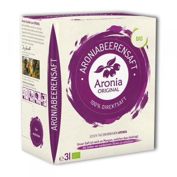 @amazon Aronia Original 100% Bio Aronia-Muttersaft 3 Liter [mit Prime ansonsten Buchtrick] PVG 18,46€