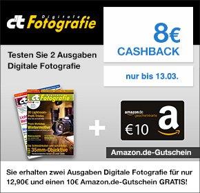 [Qipu] c't Digitale Fotografie für 12,90€ + 10€ Amazon.de Gutschein + 8€ Cashback