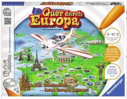 [buch.de] tiptoi Spiel Quer durch Europa (ohne Stift) für 15,07€ inkl VSK statt 19€