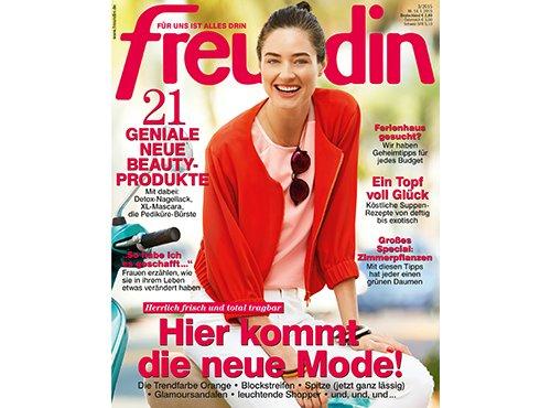 Deutschlandcard - Freundin Halbjahresabo 13 Ausgaben für 999 Punkte, Jahresabo beim Verlag für effektiv 13€
