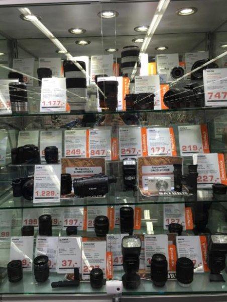 Kameras und Objektive zu Hammerpreisen im Saturn Hanau gesichtet