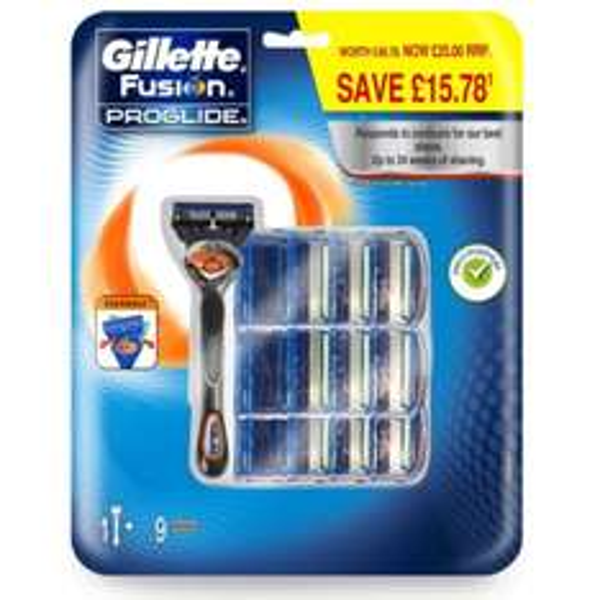 [Amazon.de] (Push) Gillette Fusion Proglide Flexball Rasierer, Vorteilspack (10 Klingen)