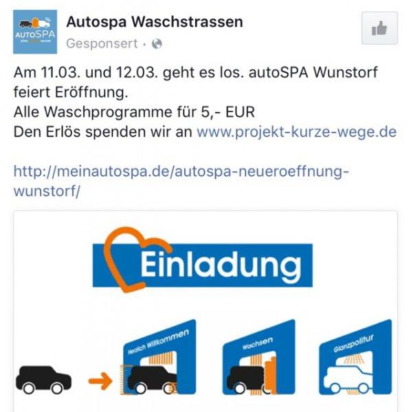 Autowäsche Wunstorf Kolenfelder Straße für 5€