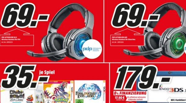 MediaMarkt Lokal Frankfurt/Main PDP Afterglow AG9 Headset für PS4/Xbox One