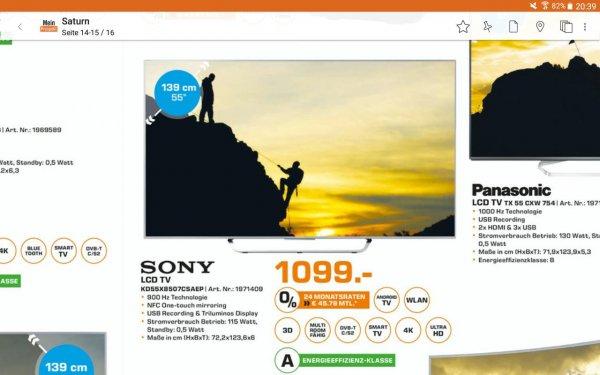 Sony KD-55X8507C Saturn Offenbach 1099€