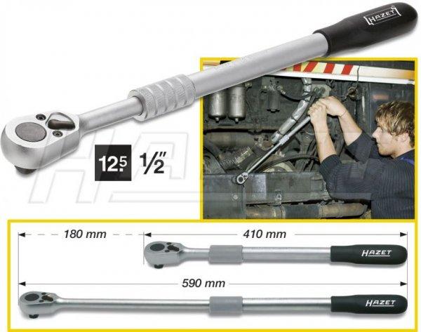 HAZET 916LG Umschaltknarre (1/2 Zoll), ausziehbar 410-590mm für 47,24 Euro