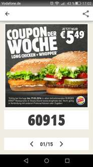 Long Chicken + Whopper 5,49 €