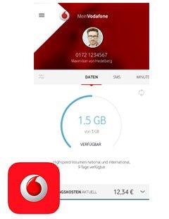 Vodafone monatlich 100MB gratis bei Nutzung der MeinVodafone App [iOS/Android]