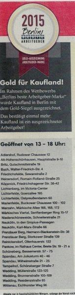 Lokal Berlin: Kaufland-Angebote am 13.03.2016 u. a. Nutella 750 Gramm für 2,59 (kg 3,46)