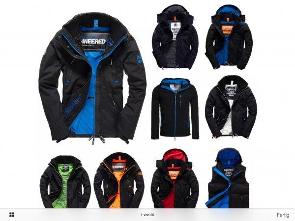 Superdry Herren Jacke, viele Modelle und Größen 49,95 inkl. Versand @ebay wow