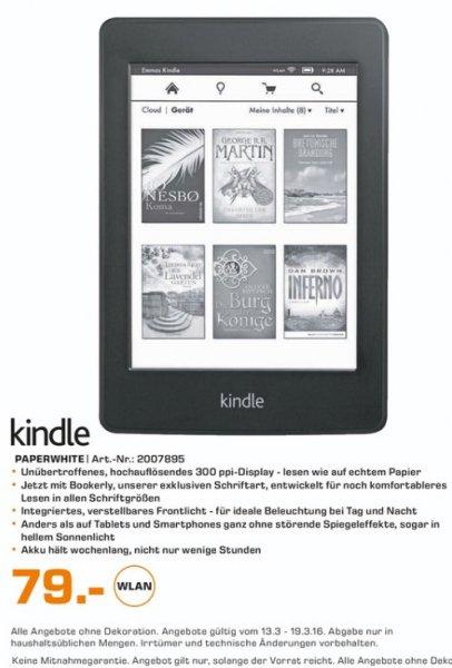 (Lokal) Saturn Berlin & Potsdam Amazon Kindle Paperwhite E-Book Reader für 79€