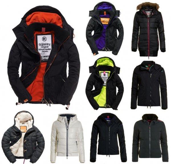 Neue Damen Superdry Jacken Versch. Modelle und Farben