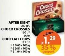 Choco Crossies / After Eight / Choclait Chips für 1,29 @Müller