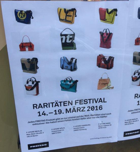 [Offline] Freitag Taschen 50% Rabatt in den Freitag Stores